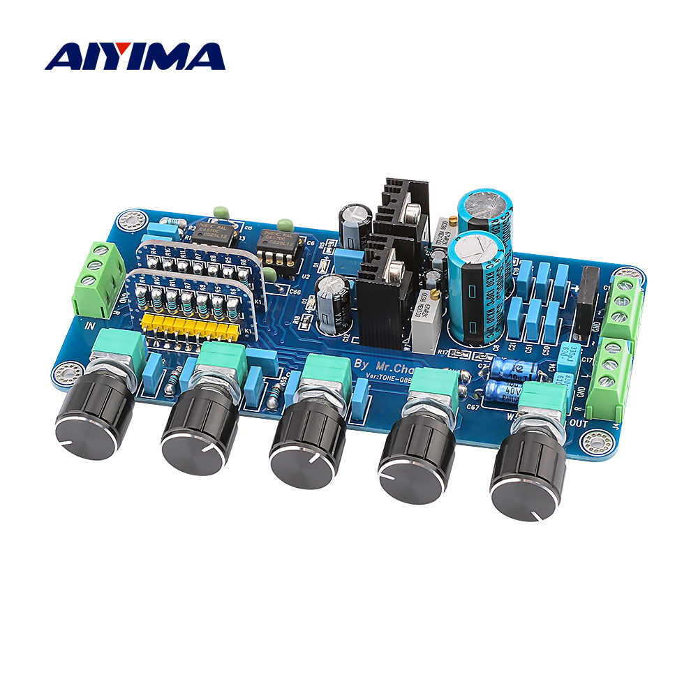 AIYIMA Preamp Tone Board UPC4570C OP AMPสเตอริโอPreamplifier Volume Tone Control Super OPA2604 AD827JNพร้อมLM317 + LM337 วงจร