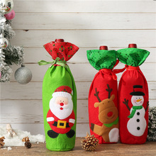 Santa Claus Wine Bottle Cover Christmas Decorations for Home New Year Xmas Decor Red Covers