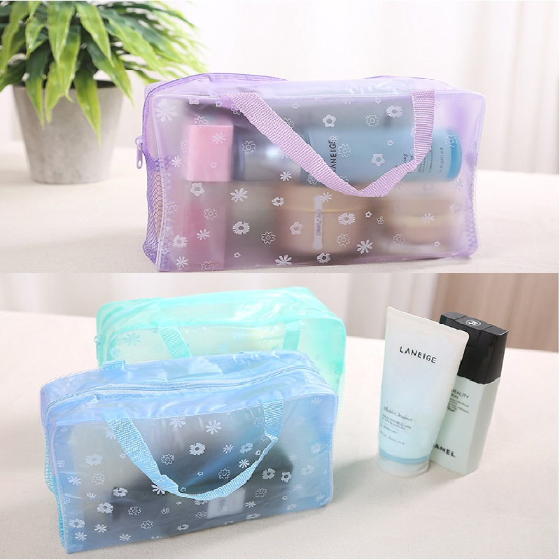 WBBOOMING Transparent PVC Cosmetic Bag Bathroom Toiletry Waterproof Organizer Easy To Travel Makeup Storage Bag