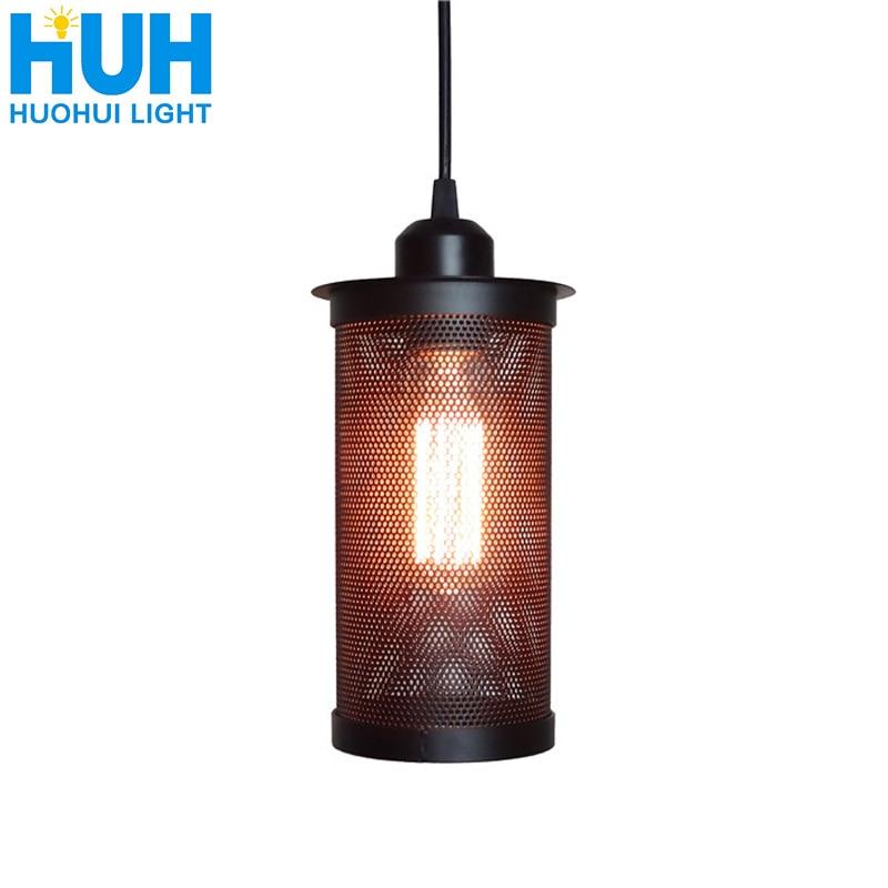 Vintage Industrial iron Pendant lamp Dia Hollow metal lampshade Restaurant/Bar/Coffee/Bed Room Retro American Pendant Lamp