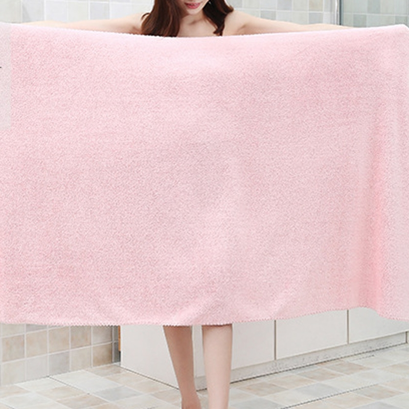 Household Bathroom Thicken Bath Towel Absorbent Large Bathing Sheet Beach Towel 63HA
