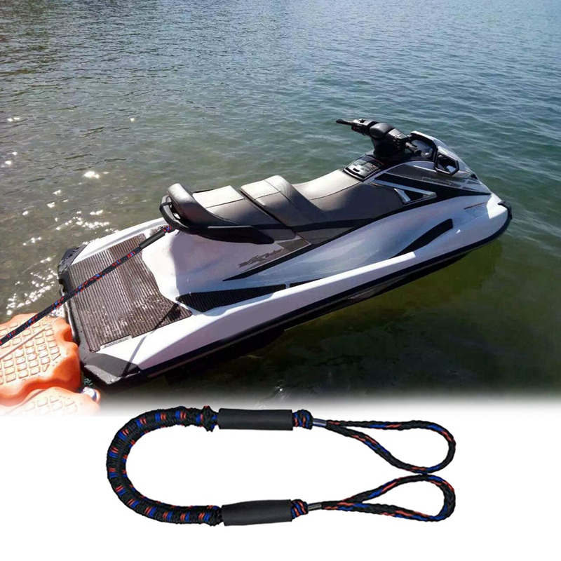 2x 1.1-1.7m Tendeur Bloc Ligne Amarrage Corde Pour Bateau Kayak Jet Ski Ponton