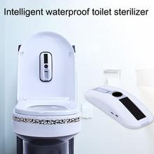 In Stock Toilet Seat Cover Sanitizer UV Light Lamp Sterilizer Waterproof Moisture Proof Toilet Disinfection Lighting Apr1