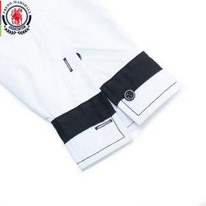 Image 3 - قميص فريد مارشال موضة 2020 بأكمام طويلة مُزين بقطع قماش مُخططة قمصان رجالية اجتماعية غير رسمية 100% قطن كاميسا ماسكولينا 220