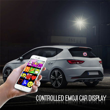 DIY Controlled Car Emoji Emoticon Wireless Bsluetooth App Animated LED Display Full-color Bluetooth Express Screen