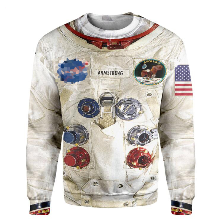 New 3D armstrong space suite Hoodie 1