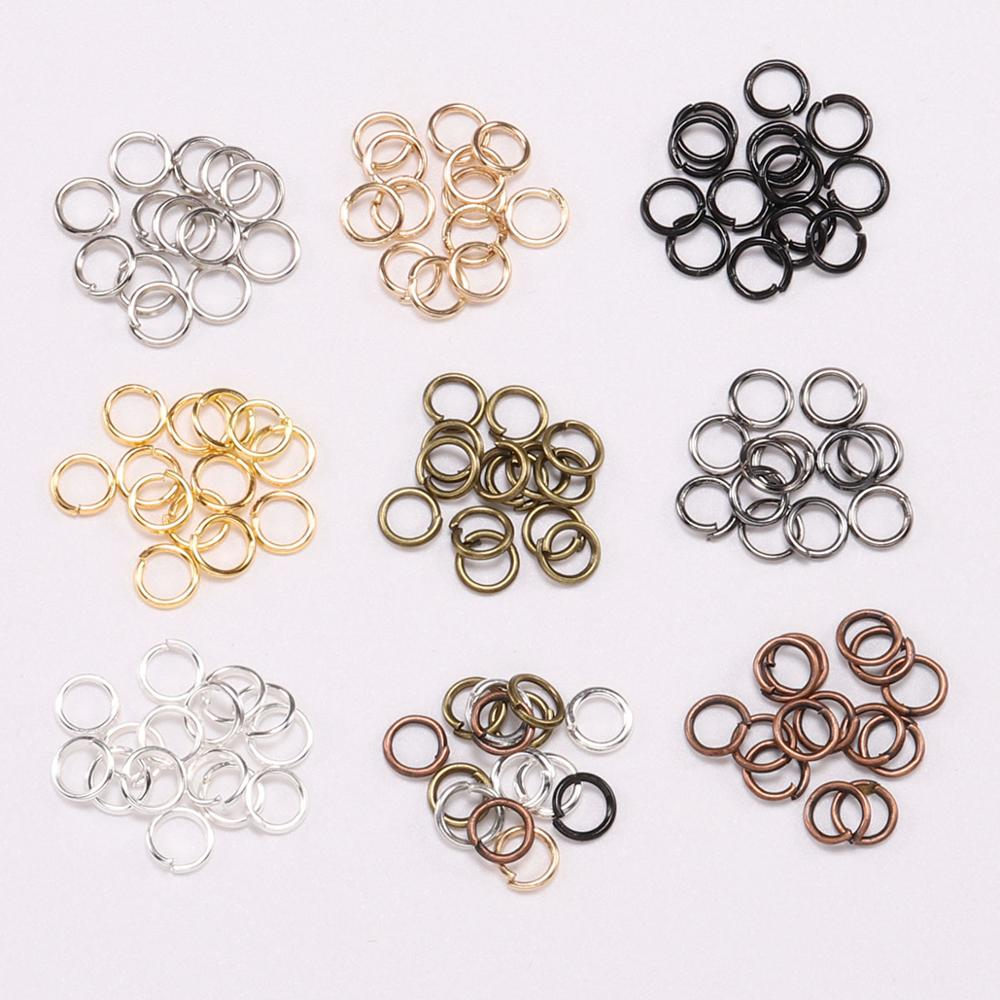 200pcs/lot 3-20mm Open Jump Rings Rose Gold Loops Split Rings Connectors For DIY Jewelry Making Findings Diy Accessories