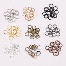 Anéis de pular aberto 3-20mm, conectores de anéis de ouro rosado com alças, para produção de joias diy, 200, pçs/lote acessórios diy