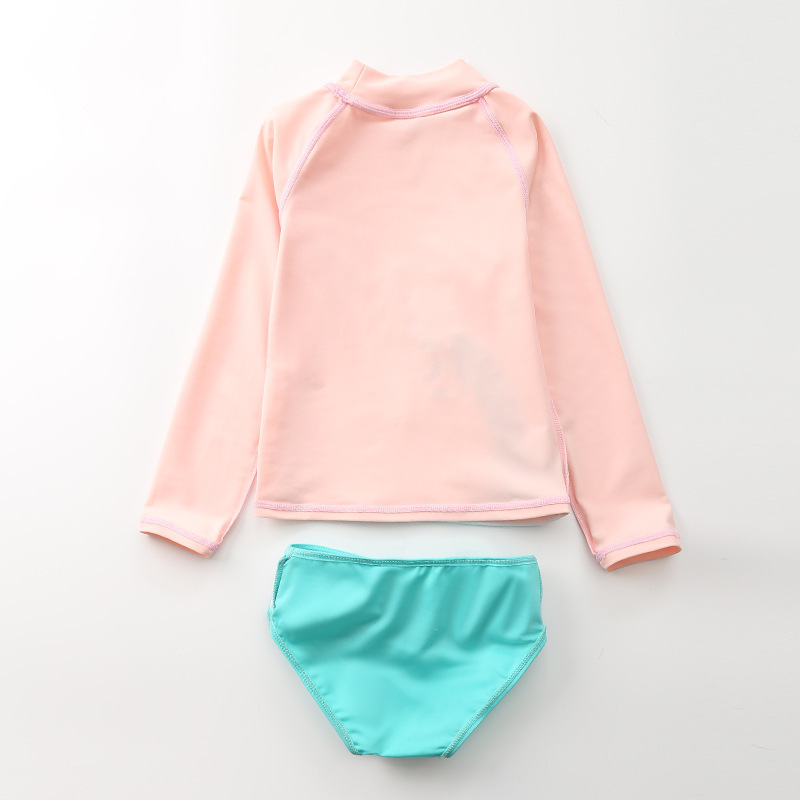 KID'S Swimwear Women's Split Type Baby Infant Large Children 1-10 Princess Swimwear Sun-resistant Long Sleeve Girls Swimwear
