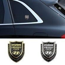 Автомобильный Стайлинг 3D металлическая эмблема наклейка для Hyundai Logo Sonata IX35 I20 I30 Azera Elantra Accent Santa Tiburon задний багажник значок