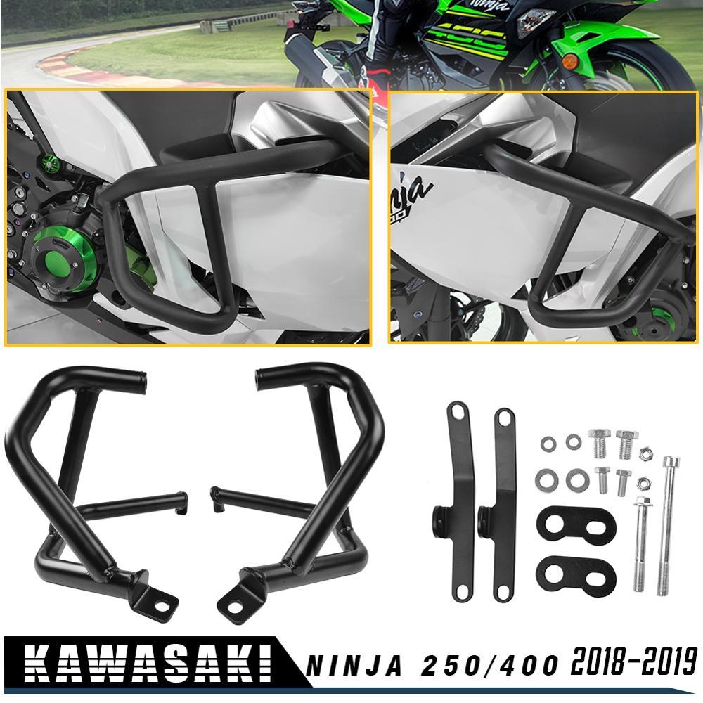for Kawasaki Ninja 400 Ninja 250 2018 2019 Engine Tank Protection Bar Guard Crash Bars Frame Bumper Ninja400 Ninja250