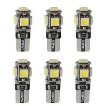 Set 5 SMD T10 Led luce interna Canbus strumento auto coda laterale parcheggio lampada lampadina segnale 6 pz bianco 12V 5W 12*30mm