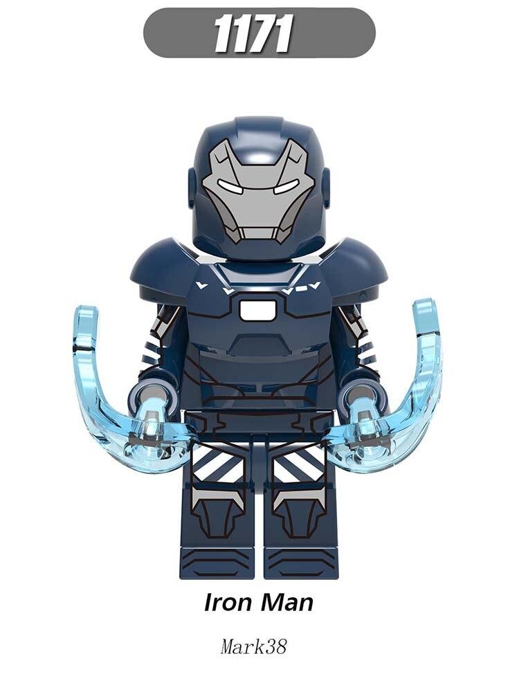 Single Sell Super Heroes LegoINGlys Figures Marvel Avengers Iron Man MK37 MK38 MK36 Bricks Blocks Toys For Brithday Gift X0246