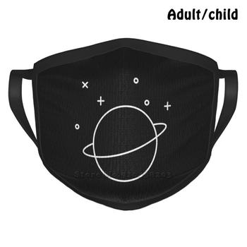 Saturn Best Gift Funny Print Reusable Face Mask Saturn Space Cassini Documentary Science Solar System Planet Moons Rings image