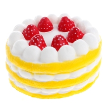 Cute Strawberry Cake Squishy Super Slow Rising Soft Kid Toy Stress Relieve Gift R9UE