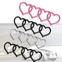 arrière coffre Badge emblème remplacement style amour coeur décalque autocollant pour Audi A3 A4 B8 A5 A6L A8 Q3 Q5 Q7 TT RS3 RS5 RS8 autocollant de voiture