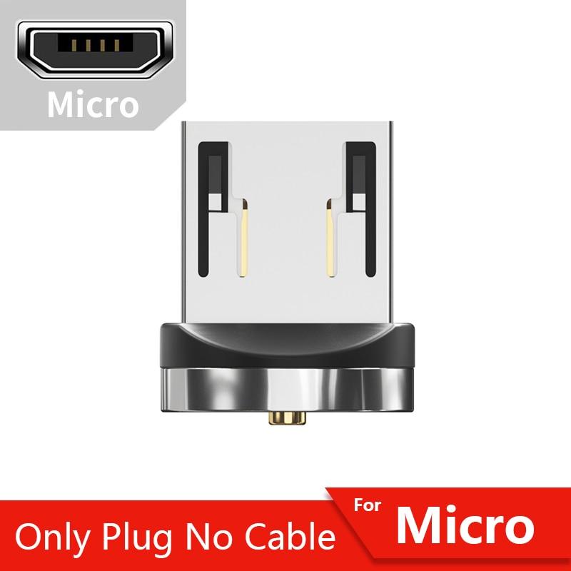 Магнитный кабель магнитная зарядка Essager Micro usb type C кабель для samsung Oneplus iPhone зарядное устройство магнит быстрый заряд кабеля USB C type-C шнур провода - Цвет: Only Micro Plug