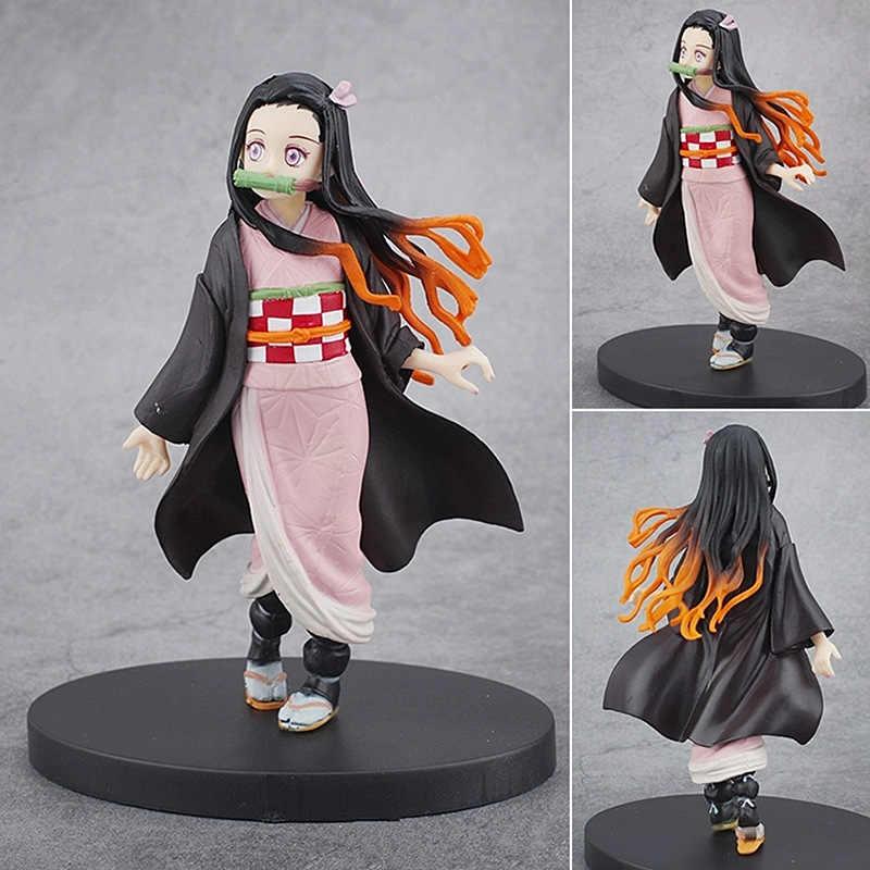 16cm Kimetsu לא Yaiba דמות Tanjirou Nezuko Inosuke צלמית אנימה קוטלת שד שד דמות פעולת להב דמויות דגם צעצועים