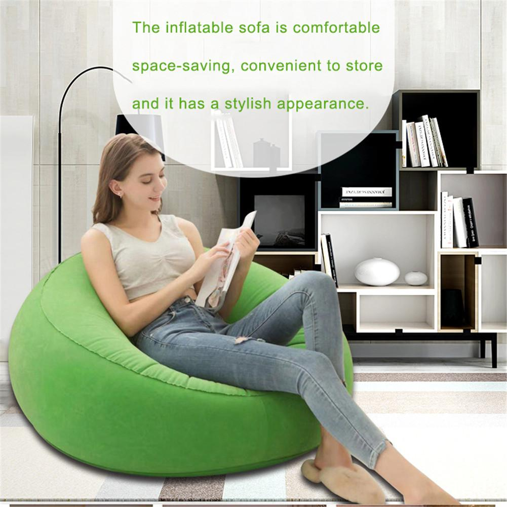 Large Bean Bag Lazy Sofas Made Of Flocking Material for Indoor Outdoor Tatami Seat 3