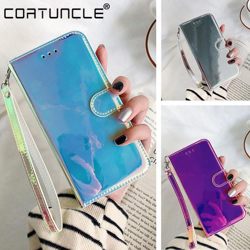 A01 A11 A21 A31 A41 A51 A71 przypadku futerał ze skóry magnetycznej na dla Samsung Galaxy A10 A20 A30 A40 A50 S odwróć 3D lustro telefon pokrywa