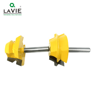 Image 5 - LAVIE 2pcs 8mm Shank Lock Miter Router Tenon Bits 22.5 องศากาว Joinery เครื่องตัดชุดสำหรับไม้เครื่องตัดไม้ MC02065