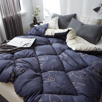 Luxury Quilt Soft And Warm Winter Comforter Filler High Quality Blanket 1-5kg Multicolor Down Quilt Duvet  King Queen Twin Size