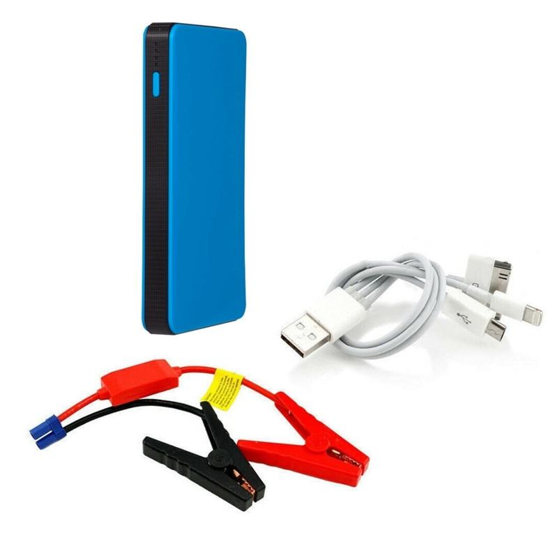 12V Multi-Function Car Jump Starter Battery Charger Power Bank Booster Blue