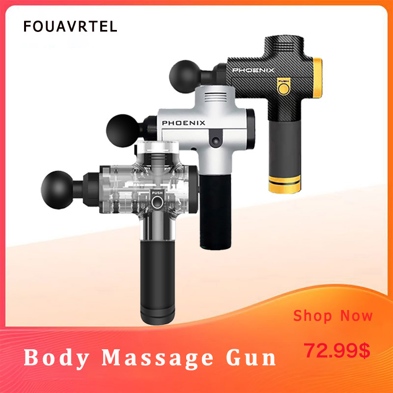 Phoenix A2 Deep Muscle Massage Gun Therapy Body Massager Electronic Muscle Massage Device Therapy Body Massage Relaxation Device