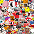 100 & 50Pcs Aufkleber Ästhetischen Laptop Aufkleber Aufkleber Pack Comics Cartoon Aufkleber Nette Aufkleber Bike Bombe Aufkleber Mädchen Aufkleber