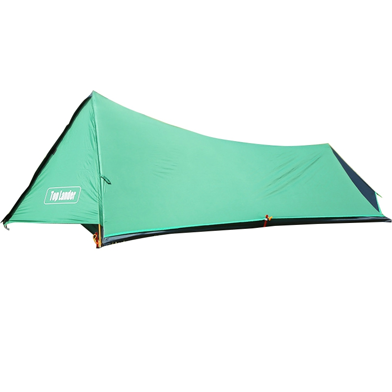 Top Lander 4 Season Light Double Tower 1 Person Coated Camping Tent Without Pole, Outdoor Single Tent
