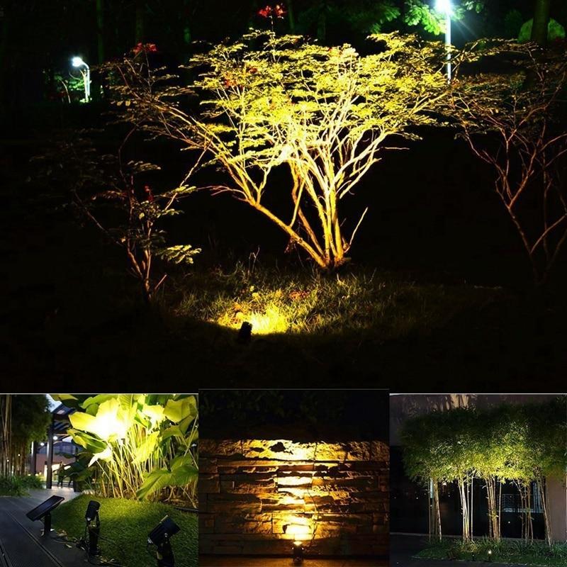 jardim gramado lâmpada paisagem holofotes (branco quente)