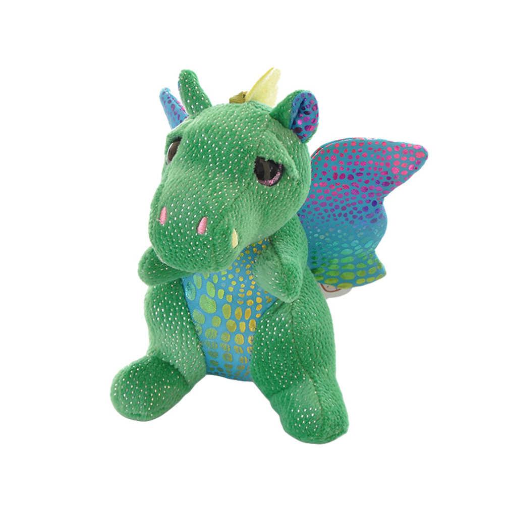 Caricatura de dinosaurio de felpa suave muñeca bolsa de peluche de juguete relleno muñeca llavero cojín almohada niño regalo de Navidad niña bebé niña
