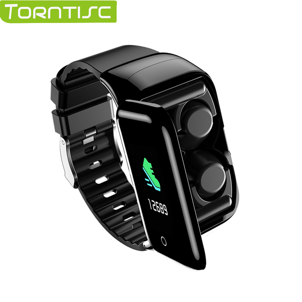 Torntisc M7 Smart Watch Men With Bluetooth Earphones Heart Rate Blood Pressure Monitor Smartwatch for Android IOS Phones(China)