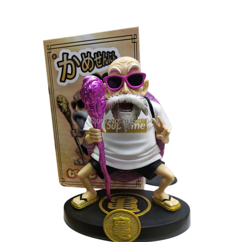 Image 3 - Animation Dragon Ball Z Kame Sennin Gold Plating Master Roshi Resin Scenes Statue Action Figure Collection Model ToyAction & Toy Figures   -