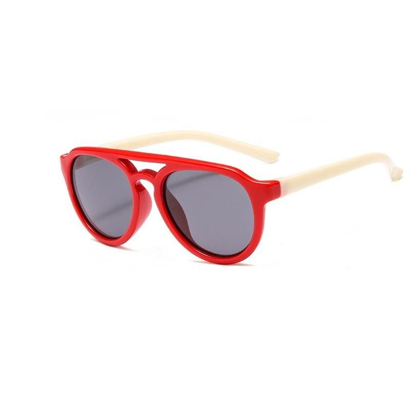 Детские солнечные очки мальчикам и девочкам, силиконовые очки солнечные очки тёмные очки для От 4 до 12 лет Детская R9CF - Цвет линз: 6