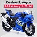 CaiPo 1:18 SUZUKI GSX-R1000 литая спортивная модель мотоцикла из сплава, реальная короткая игрушка-поглотитель для детей, подарки, коллекция игрушек