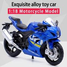 Caipo 1:18 suzuki GSX-R1000 liga diecast esporte motocicleta modelo viável shork-absorvente brinquedo para crianças presentes brinquedo coleção