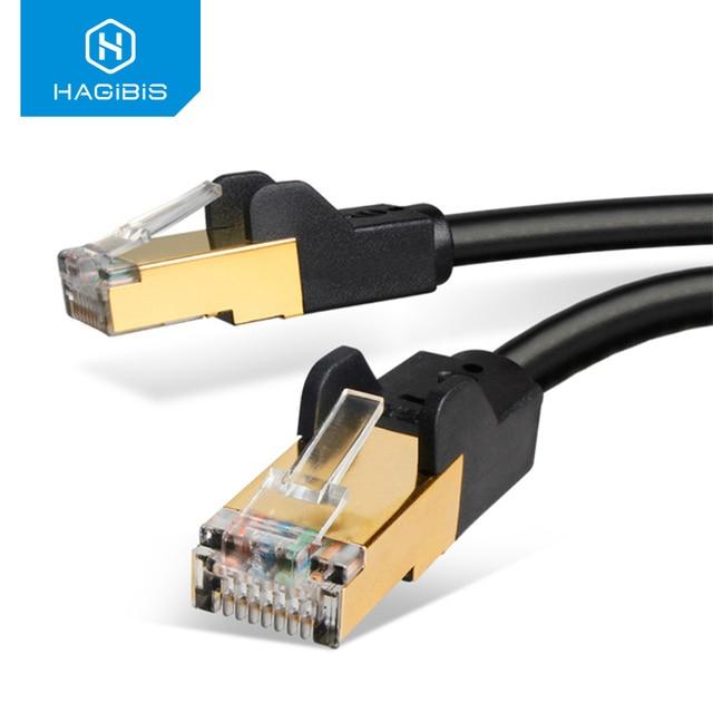 Hagibis Cat7 Cavo Ethernet RJ45 Cavo Lan Cavo di Rete Patch Cord per il Computer Portatile Cavo Router Ethernet 1/2/ 3/5/8/10/15/20/30/50m