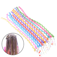 Fashion 1pc Rainbow Color Hair Accessories Synthetic Spiral Curls DIY Tools Children Girls Headwear Spiral Twist Hair Braiders