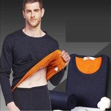 Модное мужское термобелье, набор для мужчин, хлопок, зимние подштанники, сохраняющие тепло, костюм, внутренняя одежда, Мериносовая термо одежда