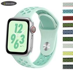 Correa para apple watch 4 banda 44mm 40mm apple watch 4 3 2 1 iwatch banda 42mm deporte de silicona correa 38 mm pulsera correa de reloj
