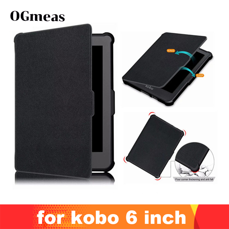 Case For Funda Kobo Clara HD N249 Ultra Slim Magnetic Smart Stand PU Leather Cover For  Kobo Clara Clear