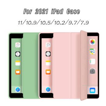Dla iPad Pro 11 case 2021 ipad air 4 case 2020 dla ipad 8 generacji case 10 2 2019 air 3 10 5 9 7 2018 Funda mini 5 case tanie i dobre opinie YLCDXL Powłoka ochronna skóry CN (pochodzenie) For iPad Pro 11 case 2021 Stałe 6 8inch Dla apple ipad ipad pro 11 cali