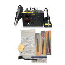 цена на SAIKE 852D++ soldering station 2in1 Upgraded fron SAIKE 852D+ &Hot Air Gun Rework Station 220V 110V saike 852D++ Free Shipping