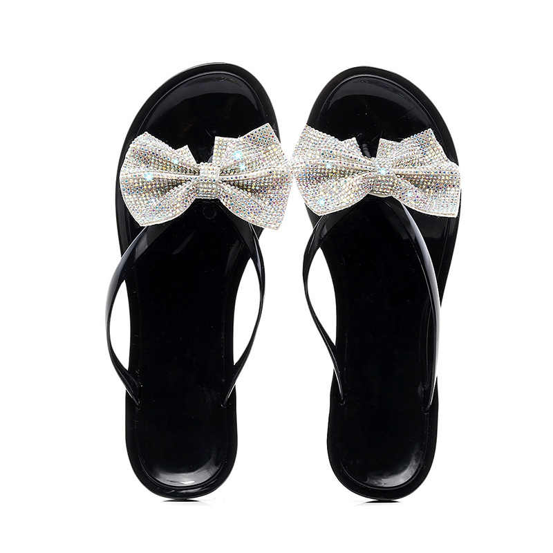 נשים שקוף נעלי בית חמוד פירות כפכפים קיץ Feamle מזדמן חוף שקופיות אופנה נעלי גומי להחליק על נוחות נעל