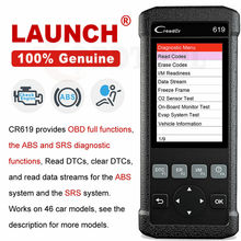 LAUNCH CR619 OBD2 Auto Diagnose Werkzeug Motor ABS SRS Airbag Lesen Klar Fehler Code Auto Scanner LAUNCH OBD 2 Scanner freies Update