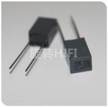 10 шт. Xiamen Faratronic CL23B 2,2 мкФ 100V 2U2 P5MM FARA CL23 225 серого цвета, самый популярный пленочный конденсатор, 2,2 мкФ/100 v 225/100V 2200NF
