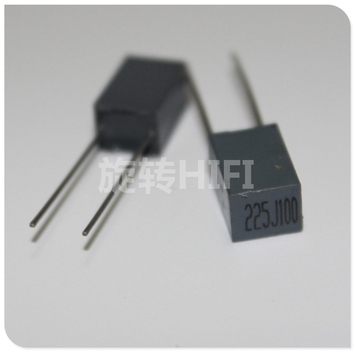 10pcs Xiamen Faratronic CL23B 2.2UF 100V 2U2 P5MM FARA CL23 225 Gray Film Capacitor 2.2uf/100v 225/100V 2200NF