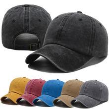 Boné unissex de algodão lavado, chapéu casual ajustável para homens e mulheres