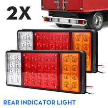 цена на 2pcs Car Truck Tail Light Rear Lamps Waterproof 36 LED Pair Boat Trailer 12V Rear Part for Trailer Caravans UTE Campers ATV Boat